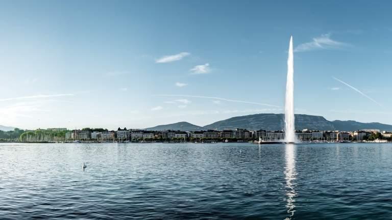Der Jet d'eau in Genf