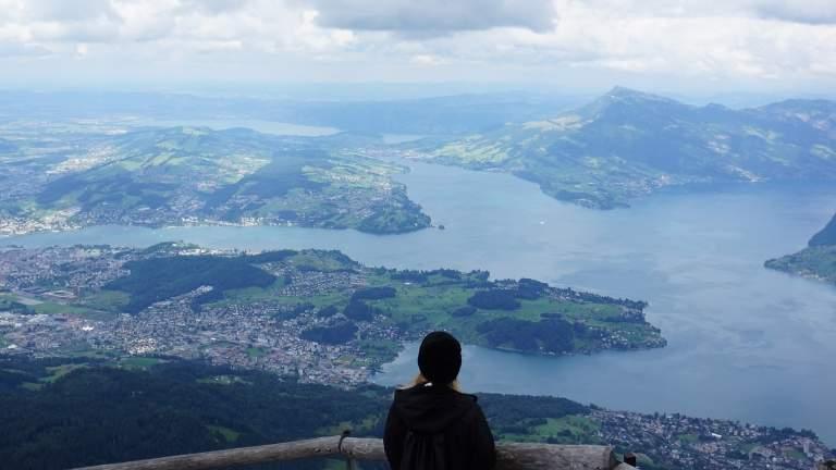 Aussicht vom Pilatus in Luzern