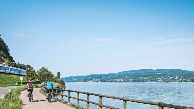 Fahrradfahren am Bodensee in Konstanz