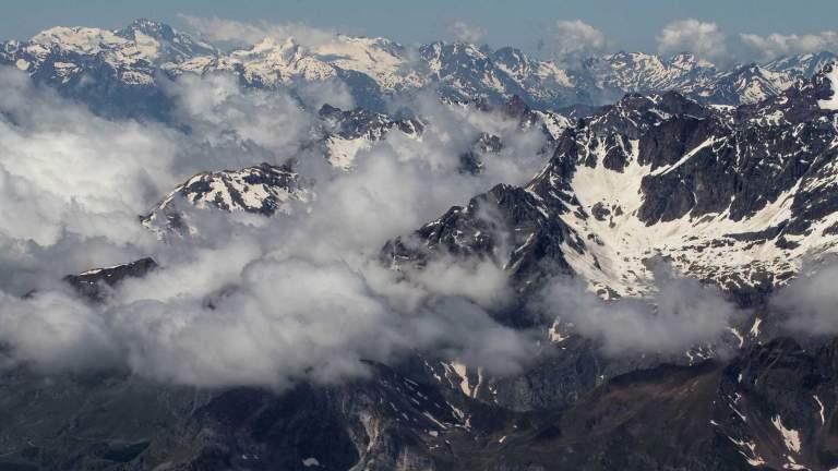 Aussicht von Matterhorn Glacier Paradise im Sommer