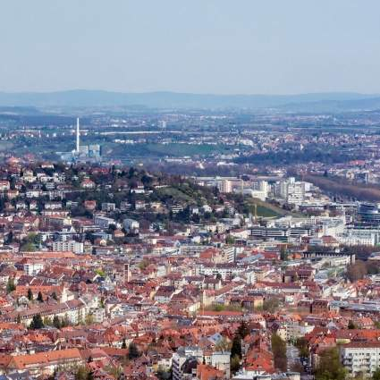 Panorama über Stuttgart