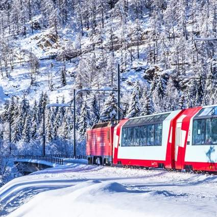 Glacier Express Winterlandschaft
